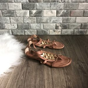 Frye huarache leather flat gladiator sandals 7